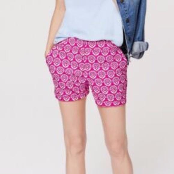 LOFT Pants - FUCHSIA & WHITE FLORAL DRESS CASUAL RIVIERA SHORTS